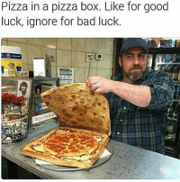 Any of my followers live in Ohio? (Im near Cleveland) • ➫➫➫ Follow @Staggering for more funny posts daily!: Pizza in a pizza box. Like for good  luck, ignore for bad luck.  hey Any of my followers live in Ohio? (Im near Cleveland) • ➫➫➫ Follow @Staggering for more funny posts daily!
