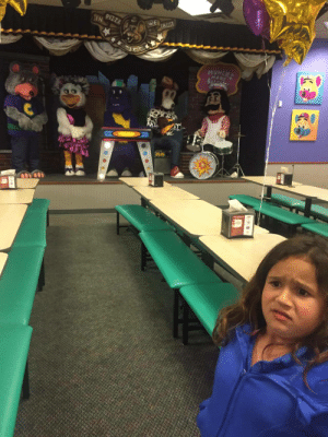 My girlfriends niece went to Chuck E. Cheese for the first time…: PIZZA  IN  WE  IRUST  MUNCHT  MAKE My girlfriends niece went to Chuck E. Cheese for the first time…
