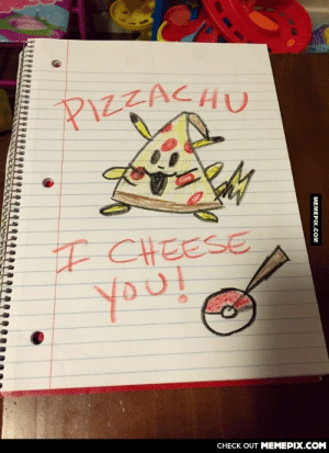 """""""My niece mispronounced Pikachu, and I had to draw what she said.""""omg-humor.tumblr.com: PIZZACHU  F CHEESE  CHECK OUT MEMEPIX.COM  МЕМЕРХ.cом """"My niece mispronounced Pikachu, and I had to draw what she said.""""omg-humor.tumblr.com"""