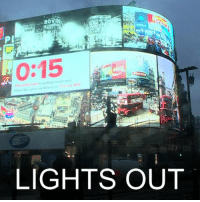 Billboard, England, and Memes: PL  0:15  2017  LIGHTS OUT 17 JAN: The iconic billboard lights at London's Piccadilly Circus have been switched off for renovations and will stay off until autumn. The billboard, which has displayed electrical advertisements for more than a century, went dark for the first time since World War Two, except for power cuts and special events. A temporary advertising banner will replace the lights until a permanent single screen is unveiled in autumn to replace the current six screens. About 100 million people are estimated to pass through Piccadilly Circus each year. Find out more about the history of the famous lights: bbc.in-piccadilly Piccadilly London PiccadillyCircus PiccadillyCircusLights PiccadillyLights England UK LondonLandmarks BBCShorts BBCNews @BBCNews