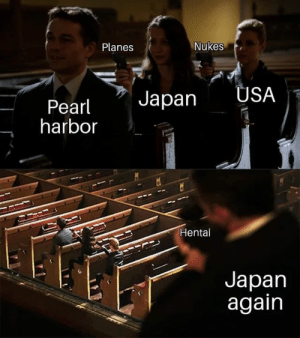 Dank, Hentai, and Memes: Planes  Nukes  Pearl apan USA  harbor  Hentai  Japan  again They got us by Recesssive MORE MEMES