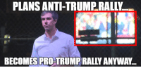 Pro Trump: PLANS ANTI-TRUMP RALLY...  BECOMES PRO-TRUMP RALLY ANYWAY.