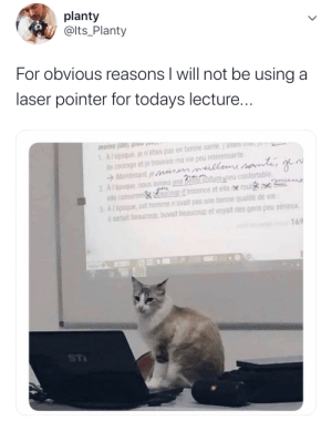 And highschool teacher's said college professors were mean via /r/wholesomememes https://ift.tt/34f6IYG: planty  @lts_Planty  For obvious reasons I will not be using a  laser pointer for todays lecture..  1Arepoque e n'étais pas en bonne sante janas ma  de courage et je trouvais ma vie peu interessante  Maintenant je ur milleuusame  2 Arepoque nous avions une detiiture peu confortable  elle consommx ucoup d'essence et elle e roul  3 Arepoque cet homme n'avait pas une bonne qualité de vie  sortait beaucoup, buvait beaucoup et voyait des gens peu serieux  enid (ap) sui  169  ST And highschool teacher's said college professors were mean via /r/wholesomememes https://ift.tt/34f6IYG