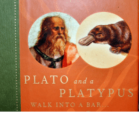barring: PLATO and a  PLATYPUS  WALK INTO A BAR