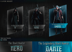 rebelrhee: pierkyn:  guys  the virgin Nero vs the chad Dante : PLAVER SELECT  The Legendary Devil Huniter  DANTE  e Musterious One  The Devil Hunter  MERO  Select your character.  CONFIRM   The Devil Hunter  The Legendary Devil Hunter  MERO  DANTE rebelrhee: pierkyn:  guys  the virgin Nero vs the chad Dante