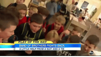 an army of 5th graders band together to protect their kindergartner friend that is bullied: PLAY OF THE DAY  BAND OF BROTHERS FIGHTS BACK  A LITTLE HELP FROM A SUIT AND A TIE  abc an army of 5th graders band together to protect their kindergartner friend that is bullied