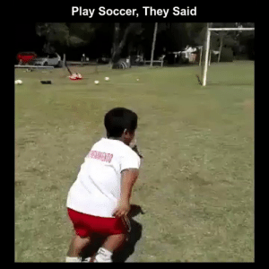 Funny, Memes, and Soccer: Play Soccer, They Said RT @StumblerFunny: For more funny videos follow @StumblerFunny or visit https://t.co/wXxwph26cH https://t.co/0RD8GXkJcF