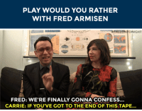 """<h2><b>Wanna play <a href=""""http://fallontonight.tumblr.com/search/would+you+rather"""" target=""""_blank"""">""""WOULD YOU RATHER""""</a> with Fred Armisen?</b></h2><h2>Fred is ready to answer your best """"Would You Rather?"""" scenarios!</h2><h2>Send us your best/funniest/weirdest questions by replying below or by submitting to our <b><a href=""""http://fallontonight.tumblr.com/ask"""" target=""""_blank"""">Tumblr Ask Box</a></b>!</h2><h2><b>What's your best """"Would You Rather"""" question?</b></h2>: PLAY WOULD YOU RATHER  WITH FRED ARMISEN   FALLONTONIGHT  FRED: WE'RE FINALLY GONNA CONFESS..  CARRIE: IF YOU'VE GOT TO THE ENDOF THIS TAPE... <h2><b>Wanna play <a href=""""http://fallontonight.tumblr.com/search/would+you+rather"""" target=""""_blank"""">""""WOULD YOU RATHER""""</a> with Fred Armisen?</b></h2><h2>Fred is ready to answer your best """"Would You Rather?"""" scenarios!</h2><h2>Send us your best/funniest/weirdest questions by replying below or by submitting to our <b><a href=""""http://fallontonight.tumblr.com/ask"""" target=""""_blank"""">Tumblr Ask Box</a></b>!</h2><h2><b>What's your best """"Would You Rather"""" question?</b></h2>"""