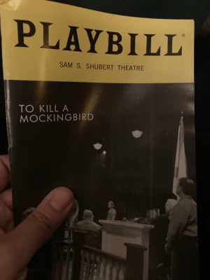 Why'd I wait so long to see To Kill A Mockingbird? I was afraid @celiakb & this incredible company were going to break my heart. I was wrong.  It's the real world that breaks your heart.  What Celia and this incredible company do is shine a light on it. God how she shines. https://t.co/9aa4Vm54t3: PLAYBILL  SAM S. SHUBERT THEATRE  TO KILL A  MOCKINGBIRD Why'd I wait so long to see To Kill A Mockingbird? I was afraid @celiakb & this incredible company were going to break my heart. I was wrong.  It's the real world that breaks your heart.  What Celia and this incredible company do is shine a light on it. God how she shines. https://t.co/9aa4Vm54t3