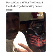 playboicarti and tylerthecreator working in the studio together ➡️DM THIS TO YOUR FRIENDS: Playboi Carti and Tyler The Creator in  the studio together working on new  musiC  @RAP playboicarti and tylerthecreator working in the studio together ➡️DM THIS TO YOUR FRIENDS