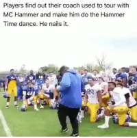 😂😂😂 flashback funniest15 viralcypher funniest15seconds Www.viralcypher.com: Players find out their coach used to tour with  MC Hammer and make him do the Hammer  Time dance. He nails it. 😂😂😂 flashback funniest15 viralcypher funniest15seconds Www.viralcypher.com