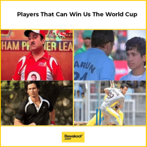 Memes, World Cup, and World: Players That Can Win Us The World Cup  HAM PI  ER LE  ARU  Bewakoof  .com We desperately need these players!  Hit like if you agree.