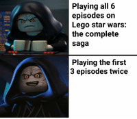 Lego Star Wars The Complete Saga: Playing all 6  episodes on  Lego star wars:  the complete  saga  Playing the first  3 episodes twice