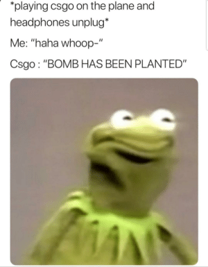 "Dank, Memes, and Target: playing csgo on the plane and  headphones unplug*  Me: ""haha whoop-""  Csgo : ""BOMB HAS BEEN PLANTED Awkward silence 😮 by bruggekiller MORE MEMES"