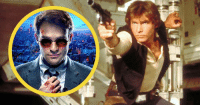 """Charlie, Han Solo, and Memes: Playing Daredevil cost Charlie Cox his Han Solo audition. Charlie failed to make eye contact, and says """"They couldn't figure out why I was acting like a complete idiot."""" He thinks it's because he's played a blind man for years.  (Andrew Gifford)"""
