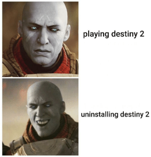 Video game: playing destiny 2  uninstalling destiny 2 Video game
