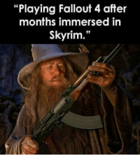 """Fallout 4, Memes, and Skyrim: """"Playing Fallout 4 after  months immersed in  Skyrim."""""""