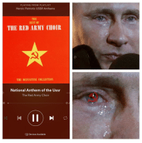 "Dank, Meme, and National Anthem: PLAYING FROM PLAYLIST  Heroic Patriotic USSR Anthems  THE  BEST OF  THE RED ARMY CHOIR  THE DEFINITIVE COLLECTION  National Anthem of the Ussr  The Red Army Choir  Devices Available <p>wants the band back together via /r/dank_meme <a href=""http://ift.tt/2kb3UGe"">http://ift.tt/2kb3UGe</a></p>"