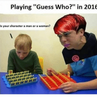 """Playing """"Guess Who?"""" in 2016  Is your character a man or a woman? Benedict Cumberdee- Zebra Fam"""