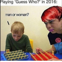 "Memes, Guess, and Guess Who: Playing 'Guess Who?"" in 2016:  man or woman? Like JoeBama"
