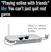 Playing Online With Friends