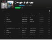awolnation: PLAYLIST  Dwight Schrute  INTO  THE  LIGHT  MATTHEW  WEST  Created by:  . 11 songs, Edit title  FOLLOWERS  0  PLAY  Q Filter  Download  SONG  ARTIST  ALBUM  Whenever  The Black Eyed Pe... The Beginning & T  3 hours ago  3:16  IAm  AWOLNATION  Run  3 hours ago  3 hours ago  3 hours ago  3 hours ago  3 hours ago  2 hours ago  2 hours ago  2 hours ago  2 hours ago  2 hours ago  4:34  + About To  Adam Sanders  About To  3:01  Do Something  Matthew West  Into the Light  4:37  EXPLICIT  Kendrick Lamar  3:52  +Think  + Would An Idiot Do That? - Original Mix  + And If  + They Would  Aretha Franklin  Soul Queen  2:19  Patrick Harney  Would An ldiot Do  7:51  EXPLICIT  Verbal Jai  The Real Street Co..  2:36  EXPLICIT  D Stoned  Last Three Years  2:42  I Do Not  EXPLICIT  Drew James  Past Present Future  4:19  +  Do That Thing  Claude Violante  Road Race EP  3:18