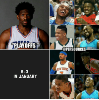 Memes, Philadelphia Phillies, and Philadelphia Phillies: PLAYOFFS  9-3  IN JANUARY  @PERSOURCESHTHENIE After a 9-3 January and an impressive win over Milwaukee without Embiid and whispers of Ben Simmons coming back very soon (Maybe even Friday night)... Are the 76ers PLAYOFFS BOUND?! This can't be real life... NBA NBAMemes JoelEmbiid Philadelphia Philly 76ers Embiid BenSimmons