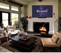 Nba, Clippers, and Nba Playoffs: PLAYOFFS  CryingJordan The L.A. Clippers watching the rest of the NBA playoffs like...😂😂😂 https://t.co/bkH3QrB7Hs