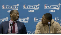 Bradley Beal had no idea John Wall jumped on the scorer's table 😂: PLAYOFFS PLAYOFFS SPLAYOFFS  NBA  (a NBA  @M  PLA  LAYOFFS  PLA  OFFS Bradley Beal had no idea John Wall jumped on the scorer's table 😂