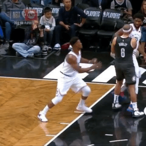 Dad instincts kicked in during the Sixers-Nets fight: PLAYOFFS PLAYOFS  NBA Dad instincts kicked in during the Sixers-Nets fight