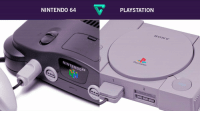 Growing Up, Memes, and Nintendo: PLAYSTATION  NINTENDO 64  SONY  PlayStation  NINTENDO64  OPEN  2 Growing up, which console did you play more? https://t.co/Ytz5itKEOj