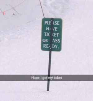 Ass, Funny, and Lost: PLE ASE  Hi VE  TIC KET  OR ASS  RE DY.  Hope I got my ticket Never lost my ticket again via /r/funny https://ift.tt/2Ncn53m