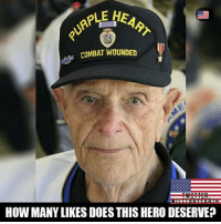 Drop a like. https://t.co/WvFt0JARCk: PLE HEA  COMBAT WOUNDED  HOW MANY LIKES DOES THIS HERO DESERVE? Drop a like. https://t.co/WvFt0JARCk