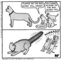 "Caturday, Facebook, and Cartoons: PLEASE DO THE BIGYES, DADDY,  SCARY TAIL, DADDY!)PLEASE DO  THE BIG  SCARY TAIL!  PLEASE!  WHAAAA!  RF  FACEBOOK.COM/ON THE PROWL CAT CARTOONS <p>Wholesome caturday via /r/wholesomememes <a href=""http://ift.tt/2wOYFjY"">http://ift.tt/2wOYFjY</a></p>"
