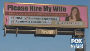 Business, Email, and Yahoo: Please Hire My Wife  EMAIL AT: HIREMYWIFE YAHOO.COM  MBA Business Experience  Academic Experience...  SA GREAT FIT  lsca Media  419-843-6265  FOX  TOLEDO  10:37 66