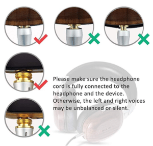 Um what do I do?: Please make sure the headphone  cord is fully connected to the  headphone and the device.  Otherwise, the left and right voices  may be unbalanced or silent. Um what do I do?