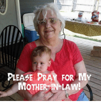 PRAYER REQUEST!! My Mother-in-law, Sharon Drummer, ( @poppafrank 's Mom) was admitted to the St. Anthony Hospital early this morning. She has a severe infection in both ears and in the back of her head. They started IV antibiotics in the ER before admitting her. Please keep her and Bill in your prayers!: PLEASE PRAY FOR MY  MOTHER IN LAW! PRAYER REQUEST!! My Mother-in-law, Sharon Drummer, ( @poppafrank 's Mom) was admitted to the St. Anthony Hospital early this morning. She has a severe infection in both ears and in the back of her head. They started IV antibiotics in the ER before admitting her. Please keep her and Bill in your prayers!
