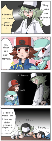It's a Male Gardevoir .-. , luck with that -Ninetales: Please,  release  your  Pokemon  No  they  are  Our  WIVES.  I don't  want to  live on  this  planet  anymore  J  Silence  They  are  Our  friends It's a Male Gardevoir .-. , luck with that -Ninetales