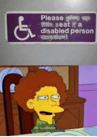 MeIRL, Seat, and Person: Please  (S  seat a  disabled person  want  amnegetable Meirl