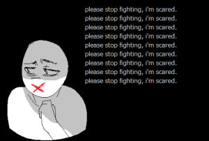 Tumblr, Blog, and Com: please stop fighting, i'm scared  please stop fighting, i'm scared  please stop fighting, i'm scared  please stop fighting, i'm scared  please stop fighting, i'm scared  please stop fighting, i'm scared  please stop fighting, i'm scared  please stop fighting, i'm scared  please stop fighting, i'm scared traumatizedbunny:  ok to rb.
