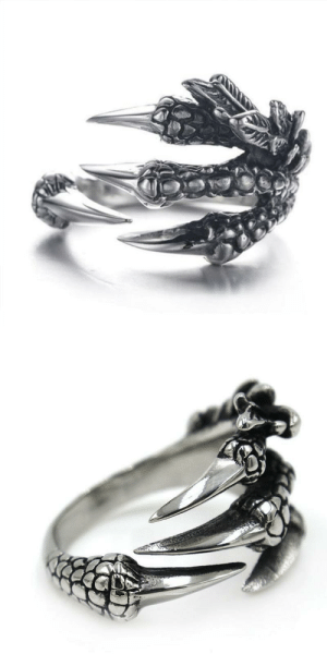 pleasingly-aesthetics: For centuries dragons have represented strength, wisdom and good luck. Now you can incorporate this exotic creature into your outfit! The quality polish and detailed texture make this classy ring an excellent compliment to your outfit. This ring is made of stainless steel which is polished to perfection to produce a beautiful shine that will never fade.  This gorgeously detailed ring is guaranteed to impress everyone. Don't wait.. Feel the mighty dragon wrapping its claws around your finger! This is the Perfect Gift for your friends and family! => GET YOURS HERE <= : pleasingly-aesthetics: For centuries dragons have represented strength, wisdom and good luck. Now you can incorporate this exotic creature into your outfit! The quality polish and detailed texture make this classy ring an excellent compliment to your outfit. This ring is made of stainless steel which is polished to perfection to produce a beautiful shine that will never fade.  This gorgeously detailed ring is guaranteed to impress everyone. Don't wait.. Feel the mighty dragon wrapping its claws around your finger! This is the Perfect Gift for your friends and family! => GET YOURS HERE <=