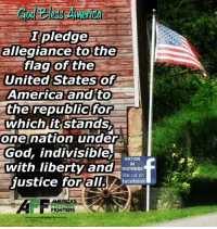 Memes, Patriotic, and Good Morning: pledge  allegiance to the  flag of the  United States of  America and to  the republic for  which it stands  one nation under  God, indivisible.  NATION  with liberty and  IN  DISTRESS  like us on  justice forall.  facebook  ME  FIGHTERS  www.armerikasfreedomfighters com Good morning Patriots and God Bless!