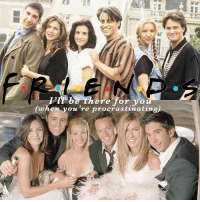 Friends, Yo, and Bing: Pll be there for yo  (when you're procrastinating) 21 years ago today, the first episode of Friends aired for us to binge watch forever. TSM