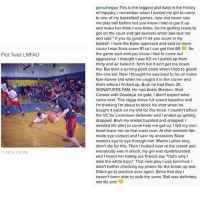 """💀 💀 💀 💀 @genuineguy @genuineguy: Plot Twist LMFAO  11/29/4, 7:07 PM  genuineguy This is the biggest plot twist in the history  of niqqatry. I remember when I invited my girl to come  to one of my basketball games, now she never saw  me play ball before but you know had to gas it up  and make her think I was Kobe. So I'm getting ready to  get on the court and get buckets when bae text me  and said if you do good  I'll let you score in my  basket"""". took the Kobe approach and said no more  cause was finna score 81 so I can get that 69 So  the game start and you know I had to come out  aggressive. Ithought Iwas KD so l pulled up from  thirty and air balled it. Smh but It ain't get me down  tho. But then a turning point came when I had to guard  this one kid. Now I thought he was bout to be on some  Kyle Korver shit when he caught it in the corner and  SIGNATURES FAM. He had Ankle Breaker, Shot  Creator with Deadeye on gold. didn't expect what  came next. This nigga drove full speed baseline and  I'm thinking I'm about to block his shot when he  bought it back on my shit for the three. I couldn't afford  the VC for Lockdown defender and I ended up getting  dropped. Bruh my ankles buckled and snapped. I  needed life alert to come help me get up. I felt my man  hood leave me on that cross over At that moment We  made eye contact and I saw my ancestors Slave  masters eye to eye through him. Martin Luther king  didn't die for this. Then I looked over at the crowd and  everybody was in shock, my girl was dumbfounded  and I heard her hating ass friends say """"that's why I  date the white boys"""". That next play l was benched. I  didn't bother checking my phone for the break up text.  Didn't go to practice ever again. Since that day  haven't been able to walk the same. Ball was definitely  not life smh 💀 💀 💀 💀 @genuineguy @genuineguy"""