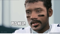 Russell Wilson looking at his offensive line like... https://t.co/8TAIJ8smEN: PLS HELP  @NFL MEMES Russell Wilson looking at his offensive line like... https://t.co/8TAIJ8smEN