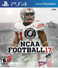 "Memes, Ncaa, and 🤖: PLTA. Only on PlayStation.  NTSC  Fiesta Bowl  BIG  REVE  NCAA  FOOTBALL 17  EVERYONE  CONTENT RATED BY  E SRR IBS  Online Interactions  Not Rated by the ESRB ""NCAA 17"" would have released today. Retweet if you think the series should come back so @NCAA can see this"