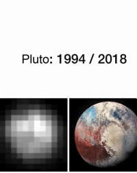 Funny, Evolution, and Pluto: Pluto: 1994 2018 This is the evolution of humanity in the last 24 years