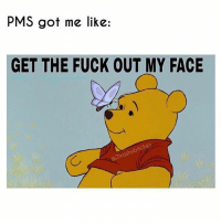 fuckyouPMSfuckyou: PMS got me like:  GET THE FUCK OUT MY FACE fuckyouPMSfuckyou