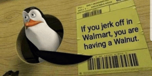 Walmart, You, and Jerk: PO 0102080  WMIT  203304a60  If you jerk off in  Walmart, you are  having a Walnut.  ooo 12245 6769S