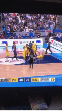 Basketball, Memes, and World Cup: PO UHD  OL  -WORLD CUP .  QUALIFIERS Thon Maker trying to drop kick opponents during a basketball brawl between Australia and Philippines!   (Via @ClarkyHeraldSun)   https://t.co/WX4vRvkGBN